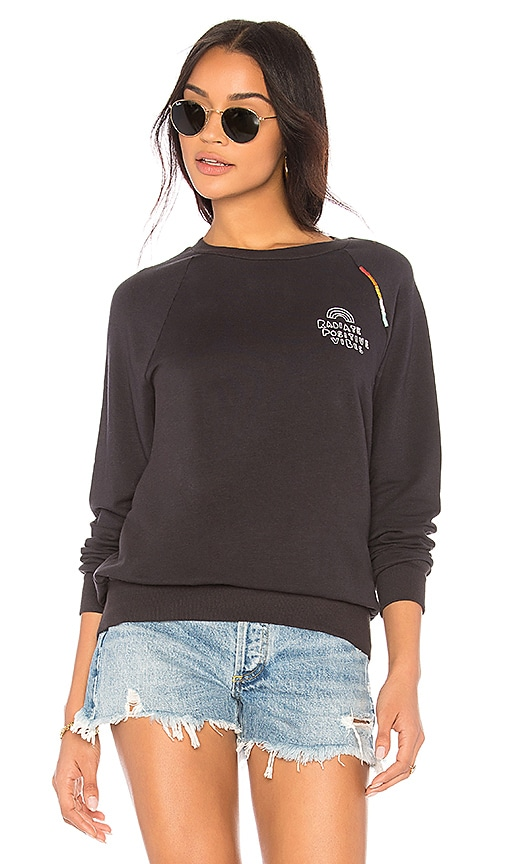 Spiritual Gangster Positive Vibes Old School Pullover in Black