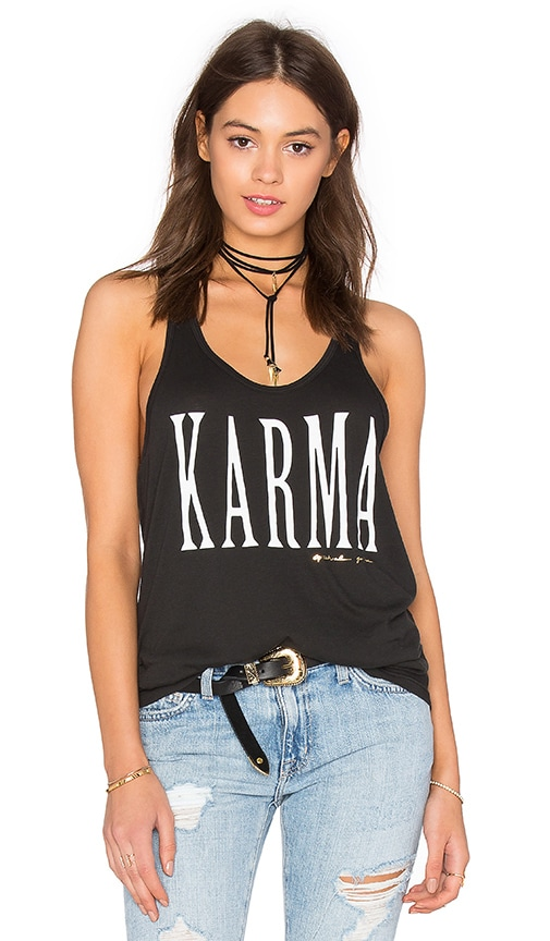 Spiritual Gangster Karma Favorite Racerback Tank in Vintage Black