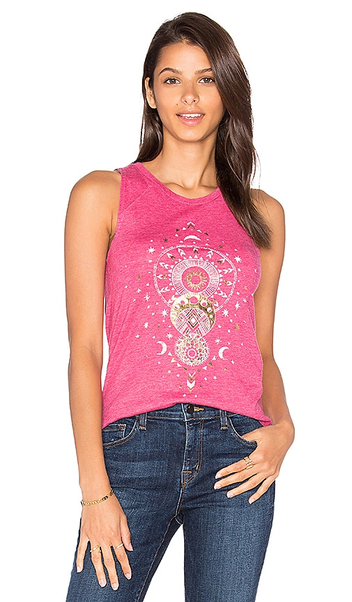 Spiritual Gangster Mystical Moon Tank in Pink