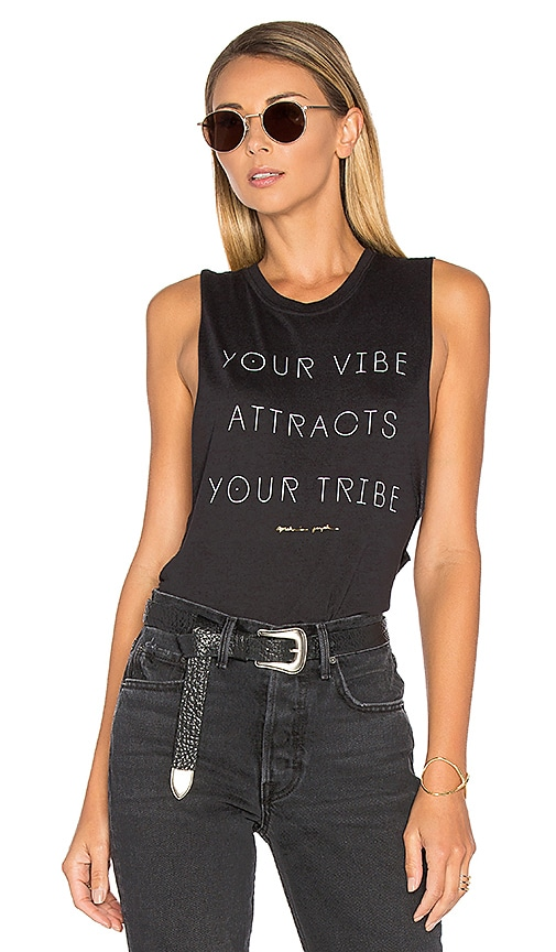 Spiritual Gangster Vibe Attracts Tribe Tank in Black