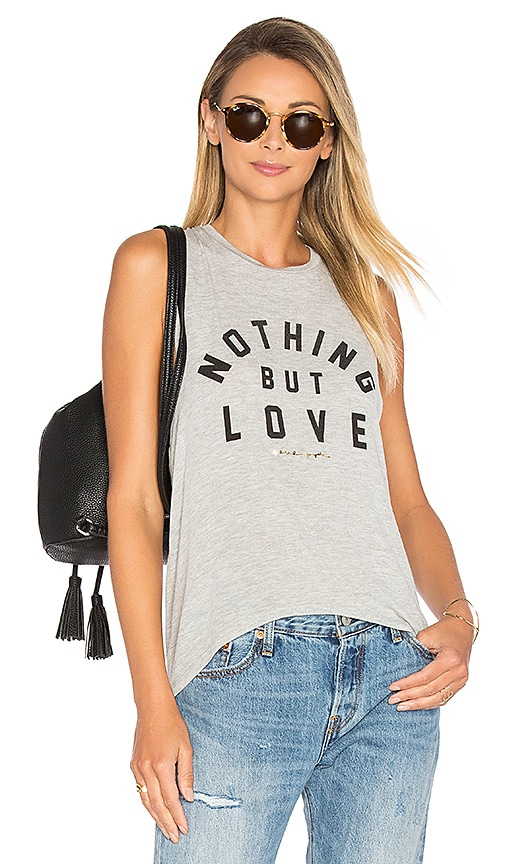 Spiritual Gangster Nothing But Love Tank in Gray