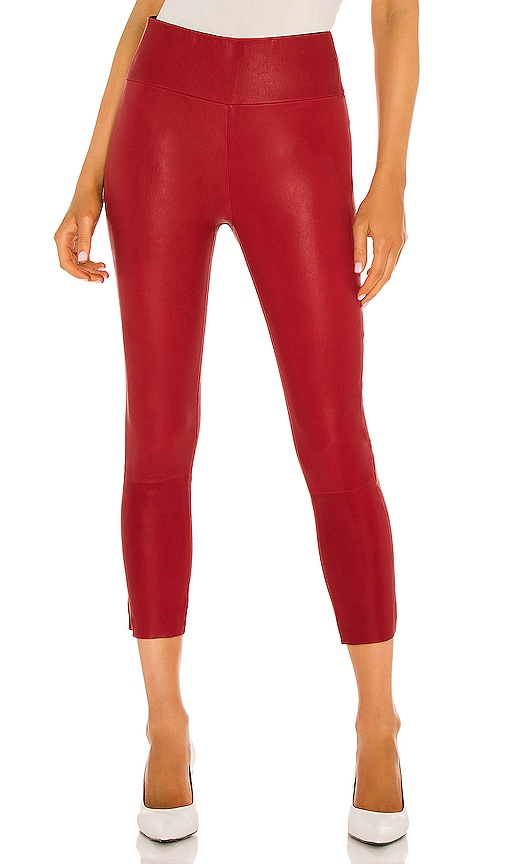 bff65bd61 SPRWMN High Waist 3/4 Legging in Red | REVOLVE