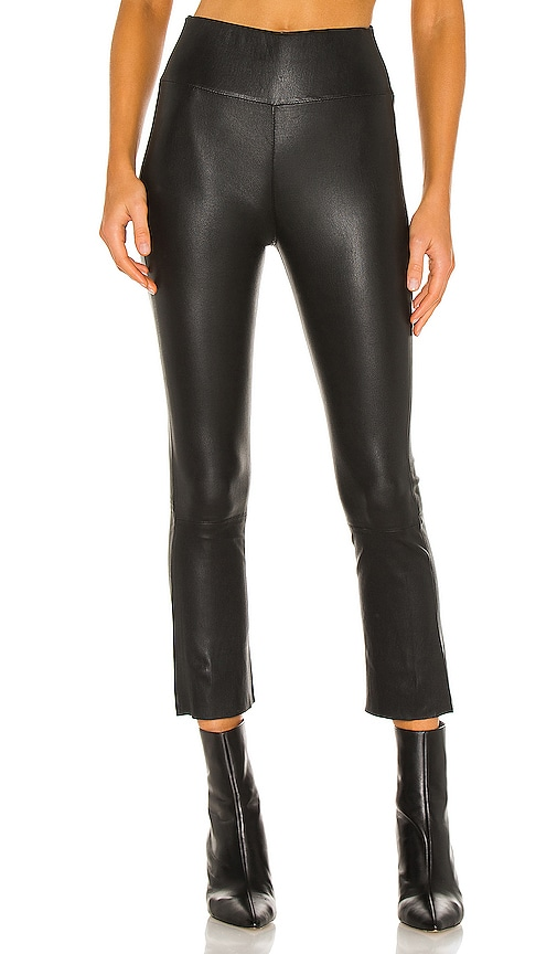 SPRWMN High Waist Crop Flare Legging in Black