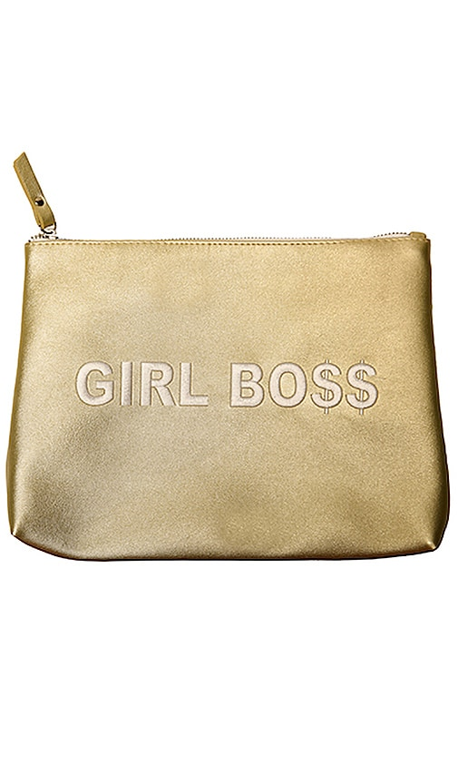 SECRET SERVICE BEAUTY Girl Boss Bag in Gold