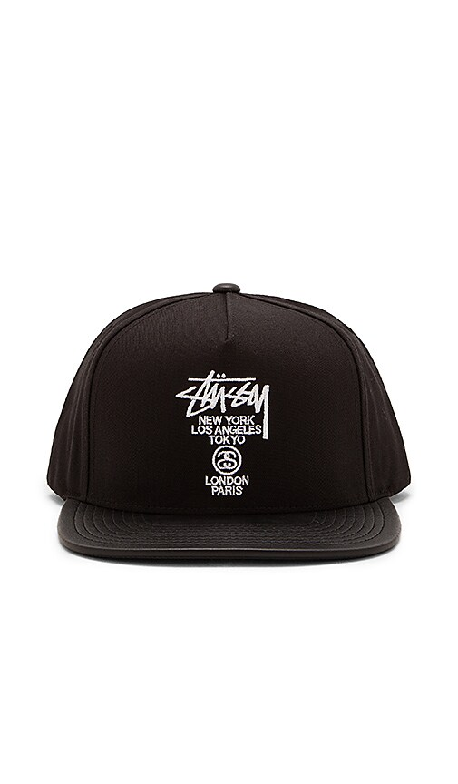 766314956 Stussy World Tour Snapback in Black | REVOLVE