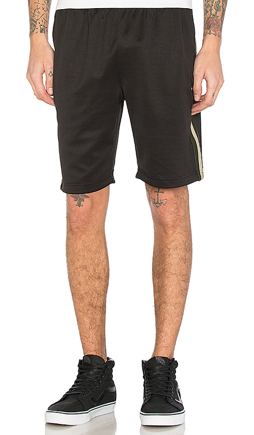 Stussy Stripe Rib Track Short in Black