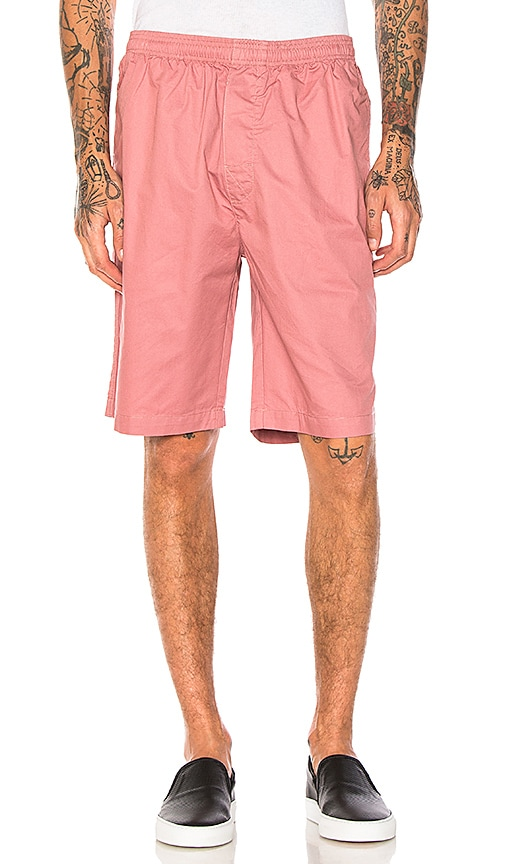 Stussy Light Twill Beach Short in Pink