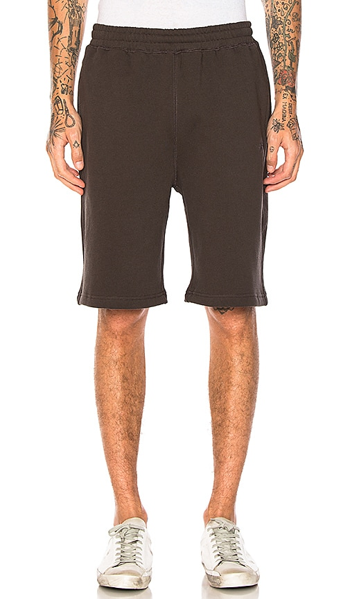 Stussy Stock Fleece Short in Charcoal