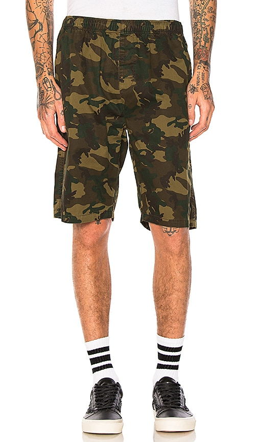 Stussy Camo Beach Short in Army
