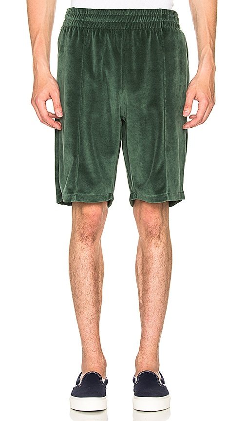 Stussy Velour Short in Green