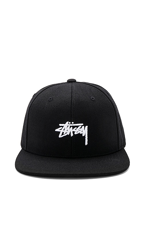 Stussy Stock Snapback in Black