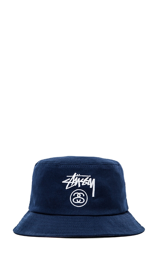 Stussy Stock Lock HO14 Bucket Hat in Navy  bc2dd6944257