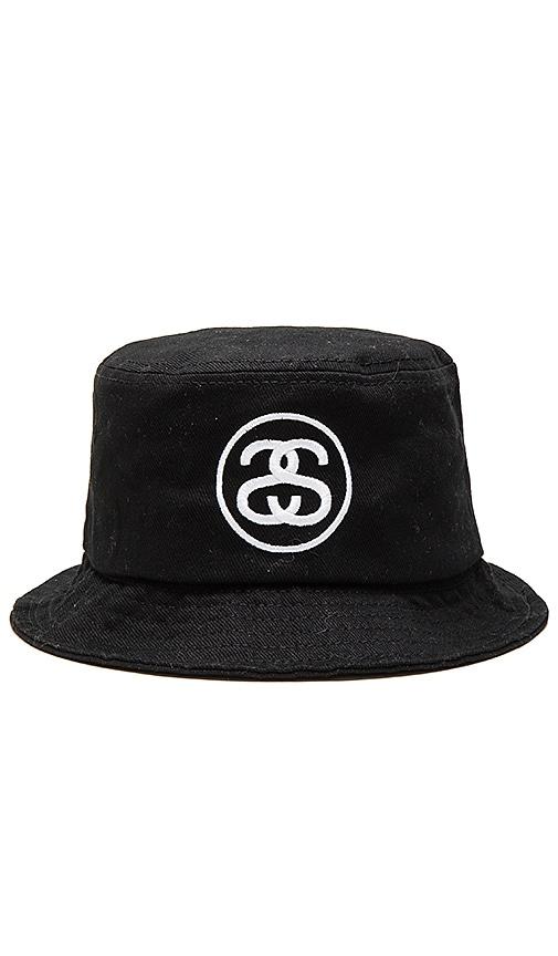 Stussy SS Link HO15 Bucket Hat in Black