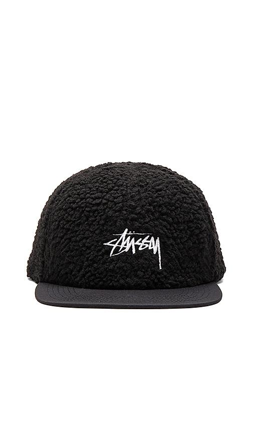 Stussy Berber Fleece Cap in Black