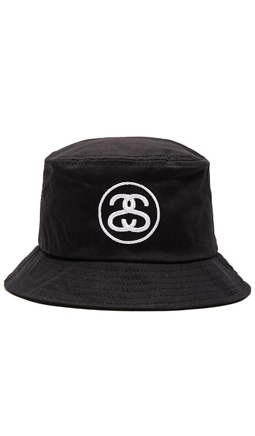 241812dae Stussy SS Link SP16 Bucket Hat in Black   REVOLVE