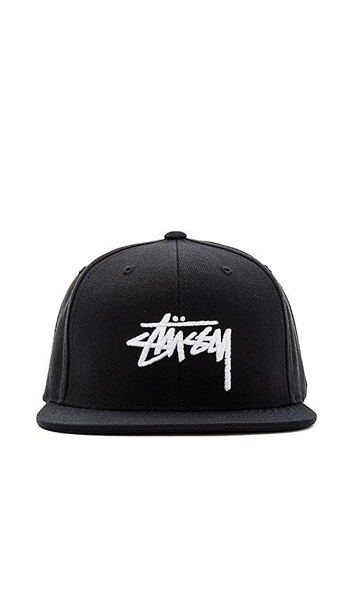 Stussy Stock FA16 Snapback in Black