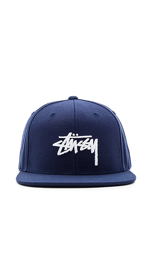 Stussy Stock FA16 Snapback in Navy