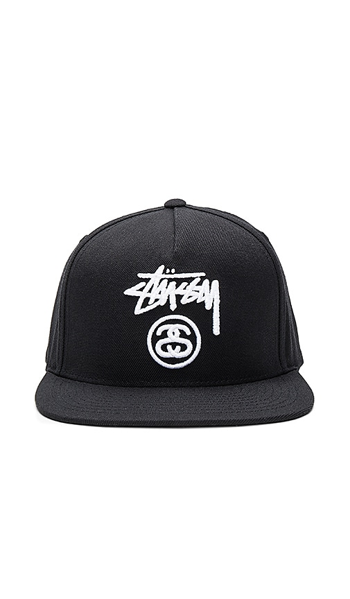 Stussy Stock Lock Hol 16 Snapback in Black