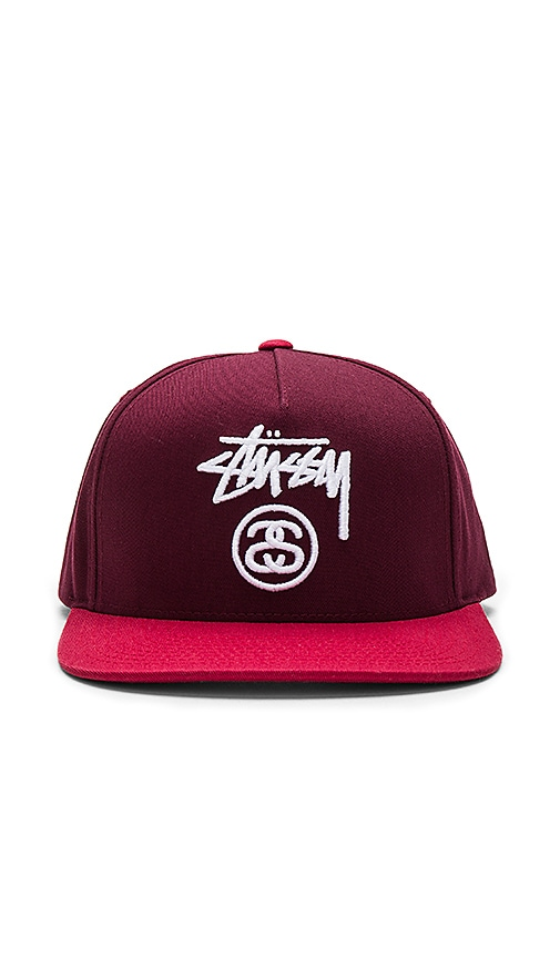 770dbd65d49 Stussy Stock Lock SP17 Snapback in Red