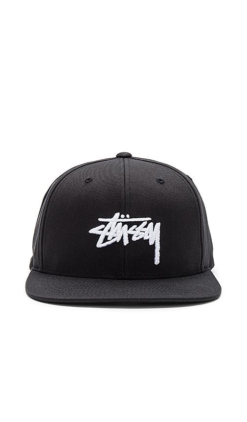 Stussy Stock SP17 Snapback in Black