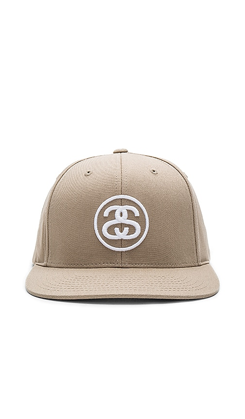 Stussy SS Link SP17 Snapback in Taupe