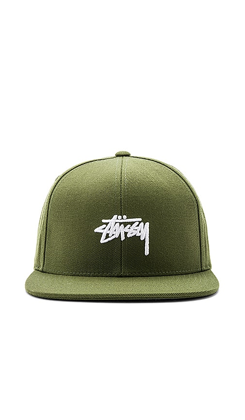 Stussy Stock FA17 Snapback in Army