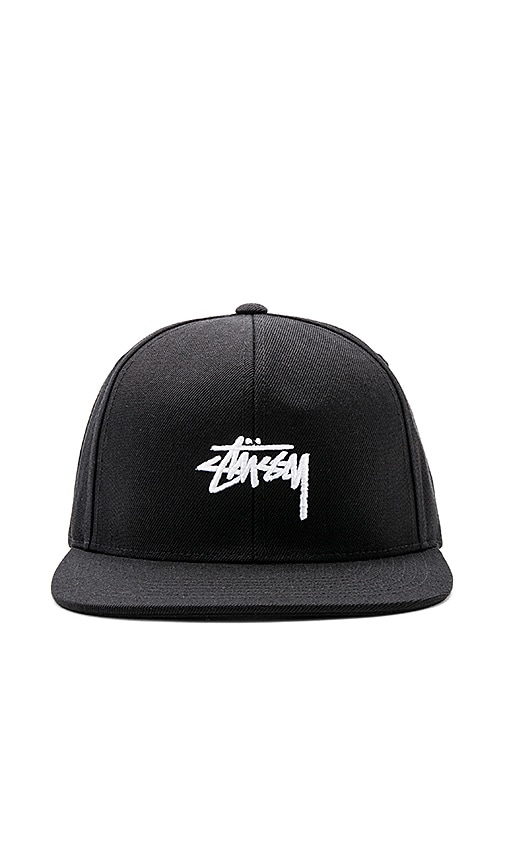 Stussy Stock FA17 Snapback in Black