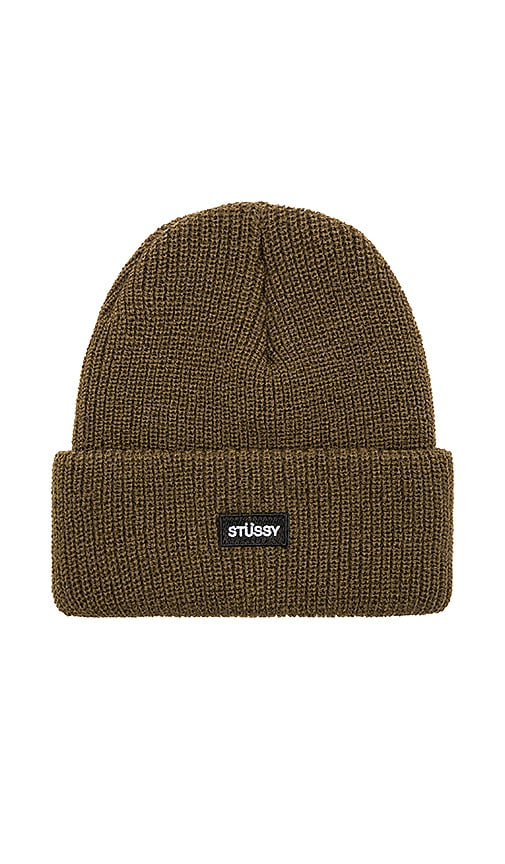 Stussy Watch Cap Beanie in Army