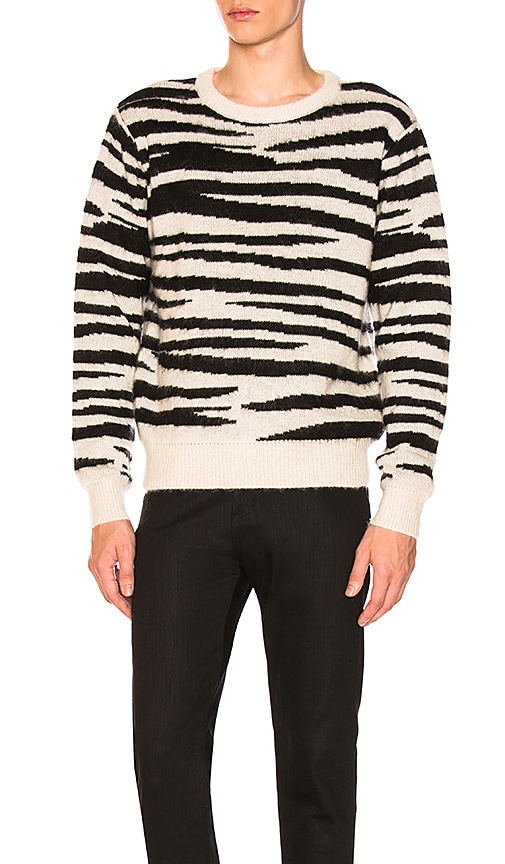 Stussy Zebra Mohair Sweater in Black & White