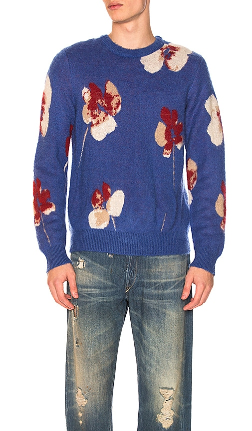 Stussy Poppy Mohair Sweater in Blue