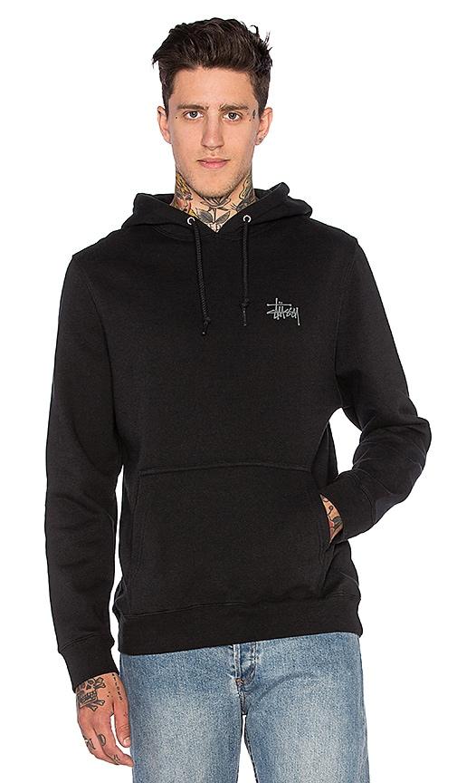 Stussy Basic Stussy Hoodie in Black