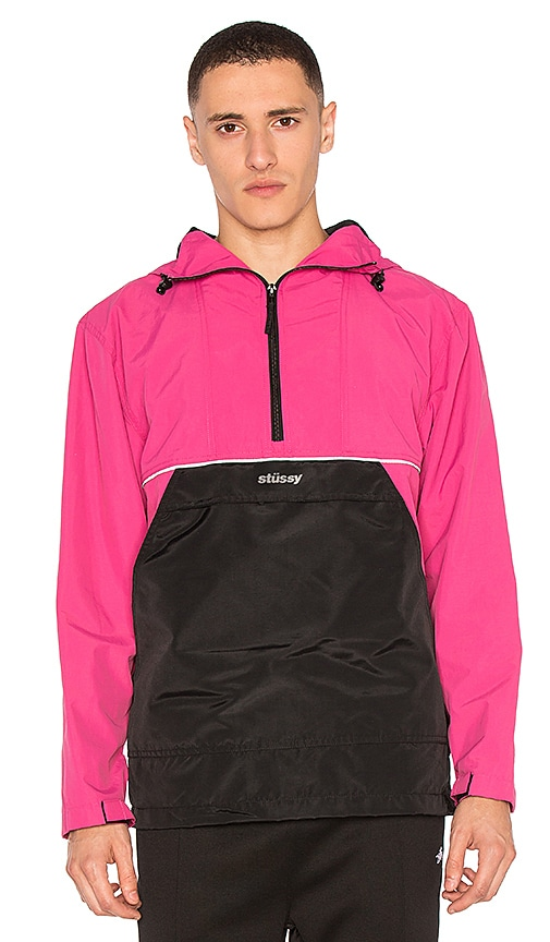 Stussy Reflective Sports Pullover in Fuchsia