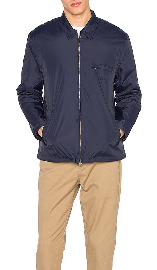 Stussy Insulated Bing Jacket in Blue