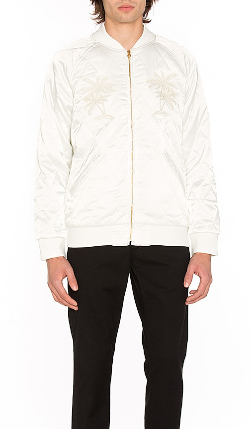 Stussy Satin Palm Jacket in White