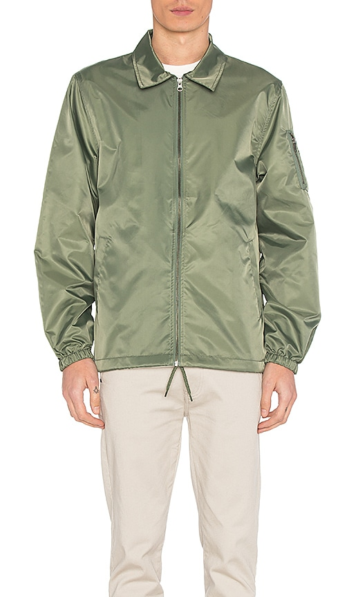 Stussy Flight Satin Coaches Jacket in Olive
