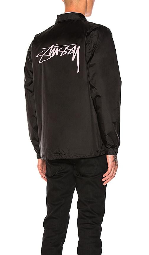 Stussy Spring Coach Jacket in Black
