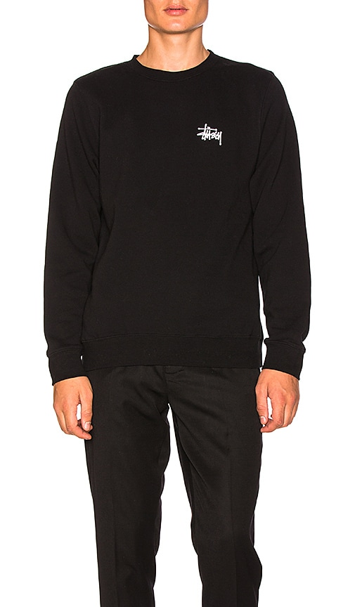 Stussy Basic Stussy Pullover in Black