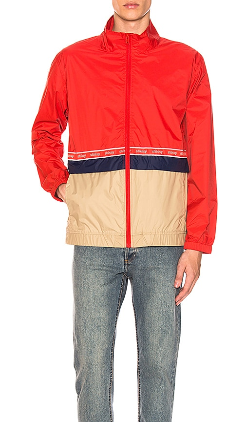 Stussy Warm Up Jacket in Red