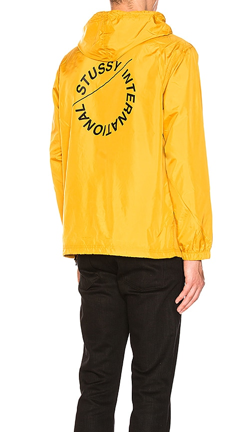 Stussy Pop Over Jacket in Yellow
