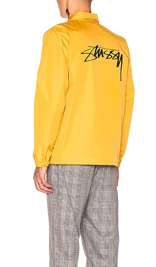 Stussy Cruize Coach Jacket in Mustard