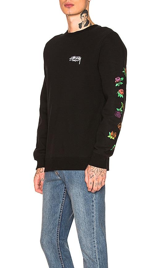 Stussy Roses Pullover in Black