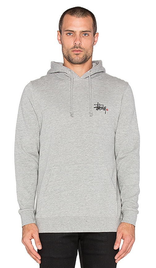 En Logo À Revolve Stussy Grey Sweat Heather Capuche Basic XzXFZ1