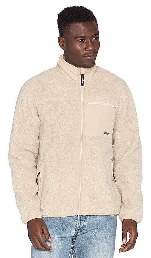 Stussy Berber Full Zip Jacket in Natural