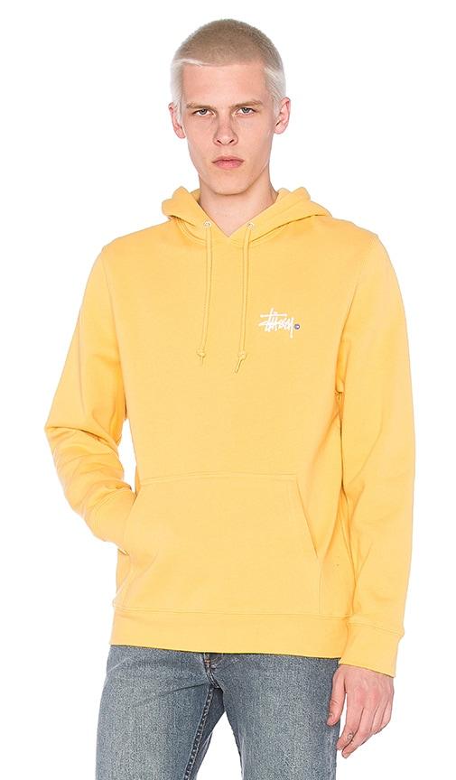 Stussy Basic Logo Hoody in Yellow