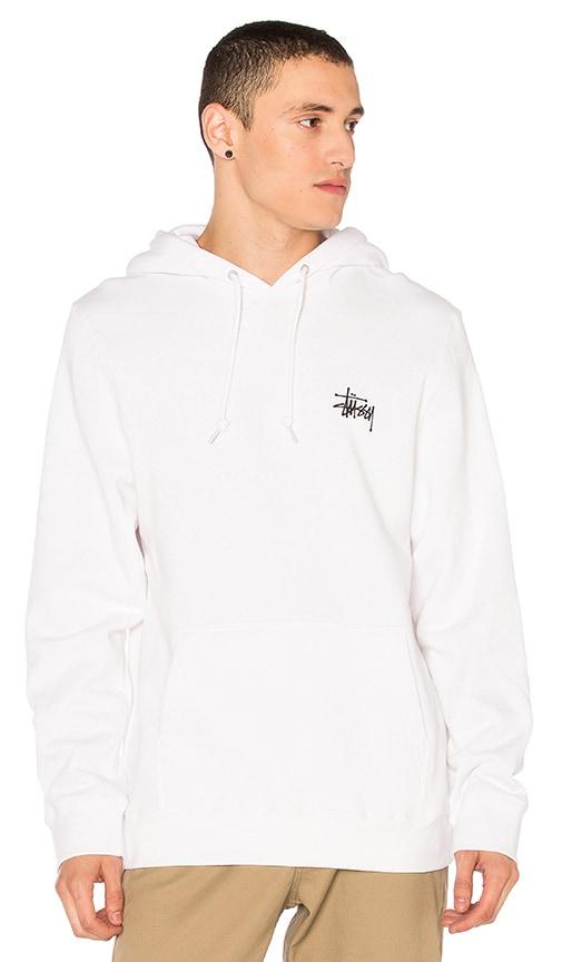 Stussy Basic Stussy Hoodie in White