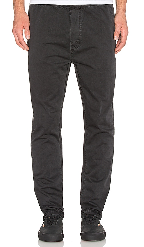 Stussy Over Dye Beach Pant in Black