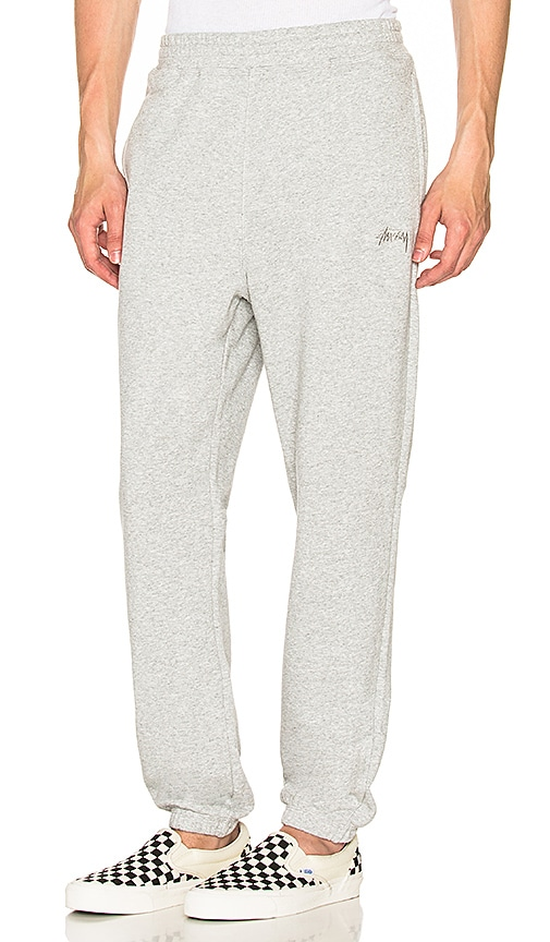 Stussy Stock Terry Pants in Gray