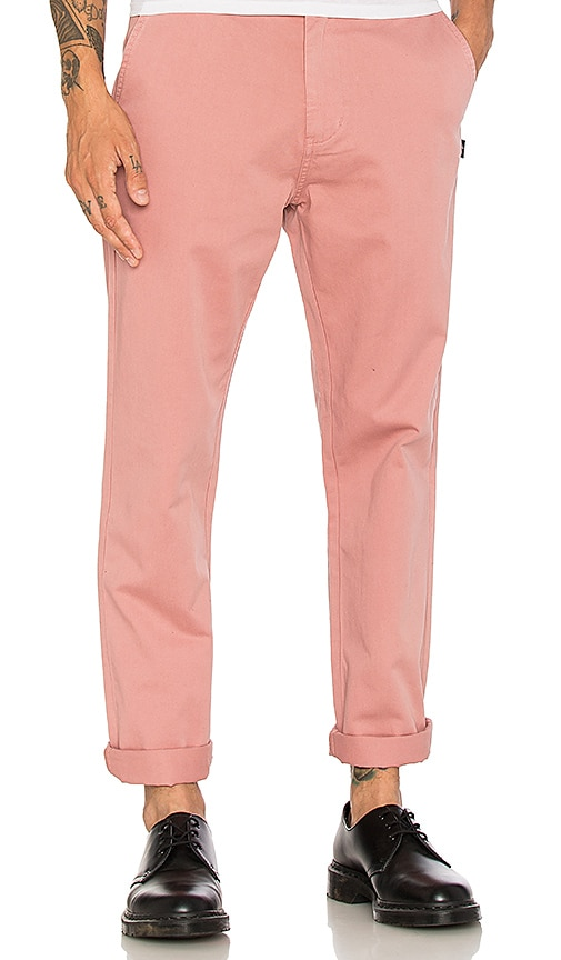 Stussy Garment Dyed Chino in Pink