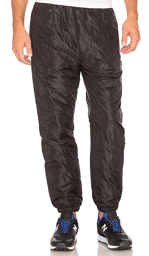 Stussy Quilted Pant in Black