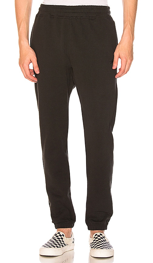 Stussy Stock Fleece Pant in Black